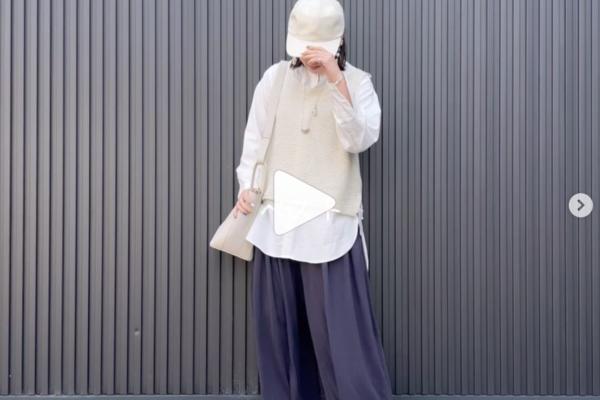 綿レーヨンスカートパンツで 変身ムービー