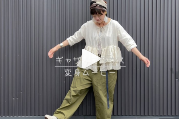 【SWITCHING GATHER STRING BLOUSE】